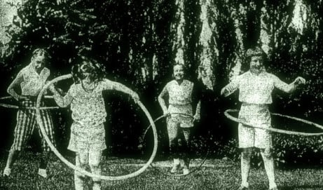 Hula hoopers are whooping it up (1958)