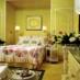 Retro yellow & pastel bedroom decor (1967)