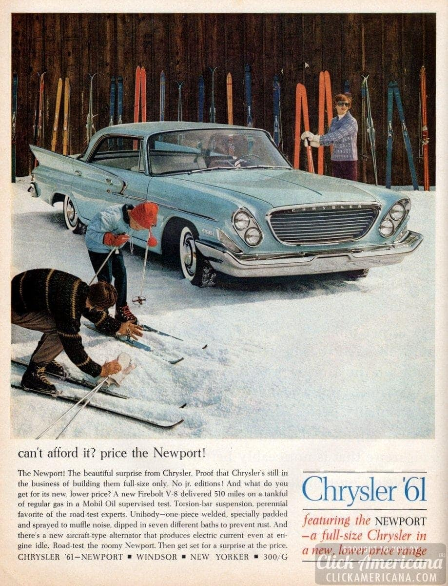 Can't afford it? Price the '61 Chrysler Newport!