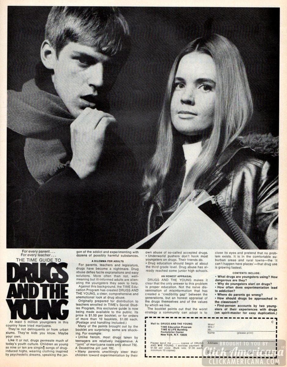 Time magazine guide: 'Drugs & the young' booklet (1970)