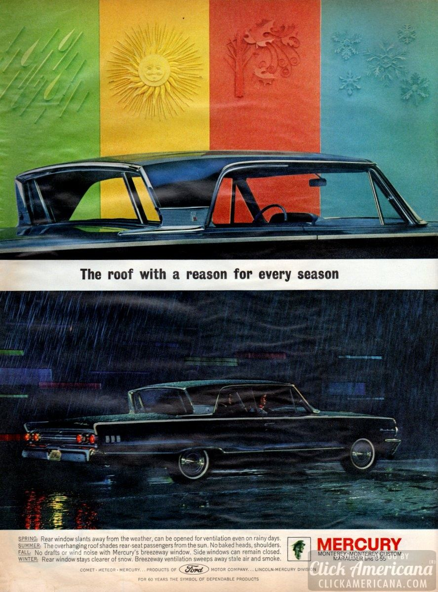 1963 Mercury Monterey: The roof with a reason for every season