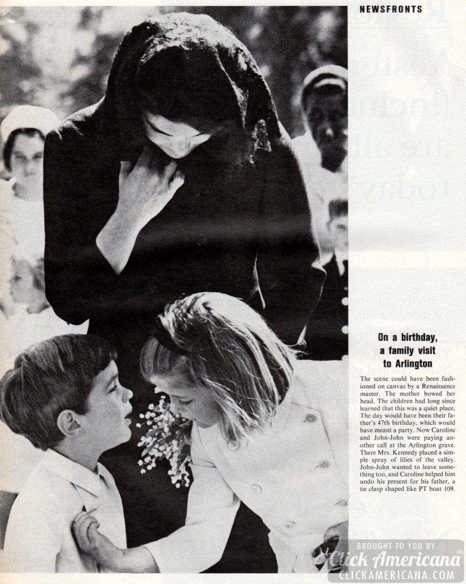On JFK's birthday, a family visit to Arlington (1964)