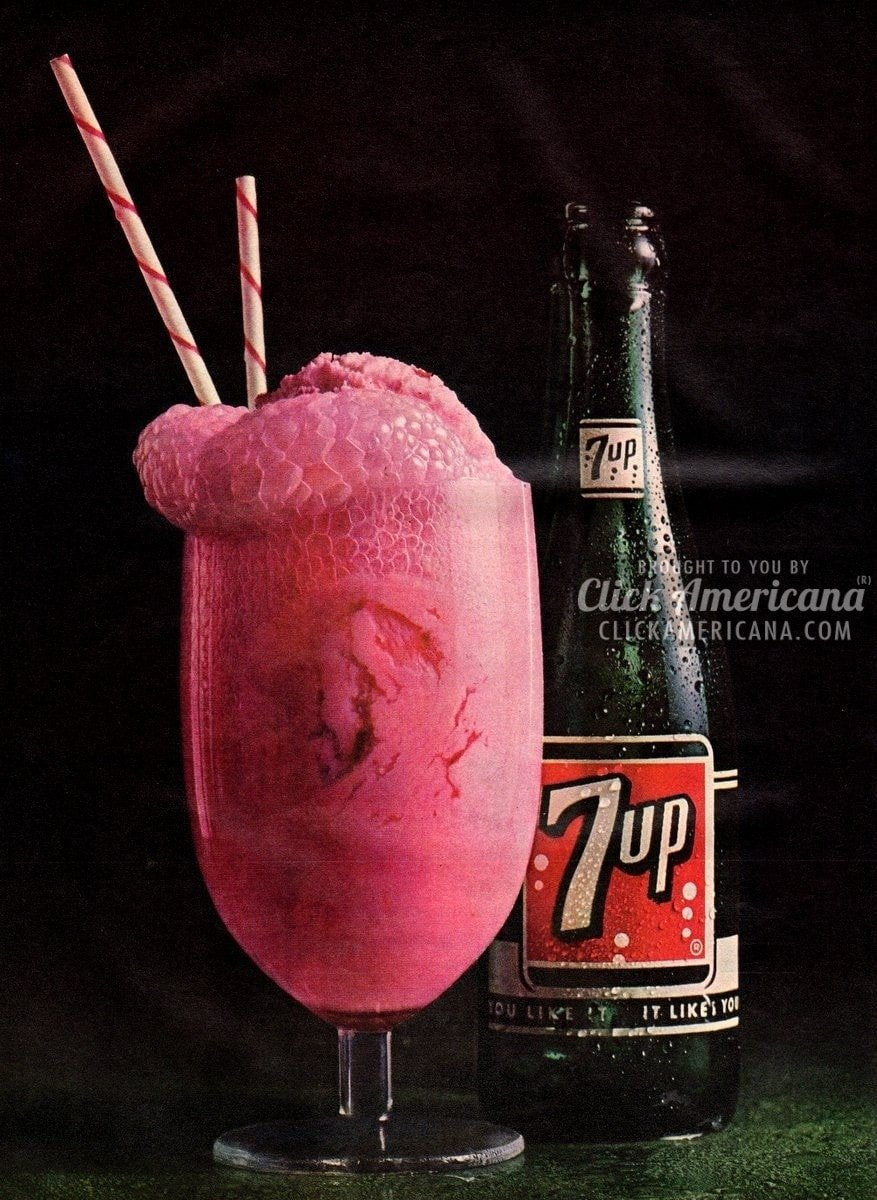 7-Up Float: Seven-Up & your favorite ice cream (1964)