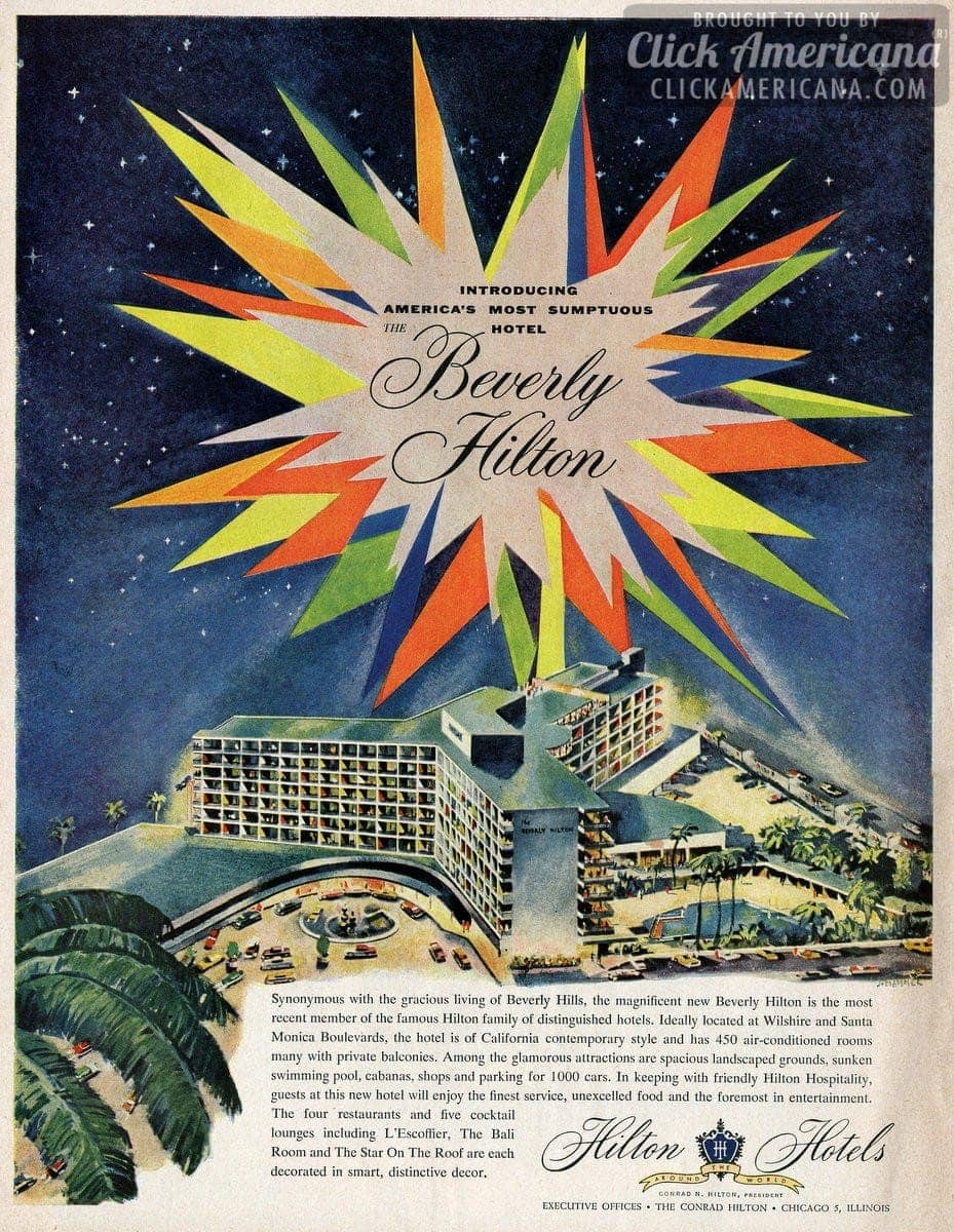 America's most sumptuous new hotel: Beverly Hilton (1955)