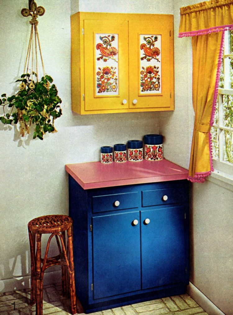 1. Fresh colorful paint and peasant pattern insets