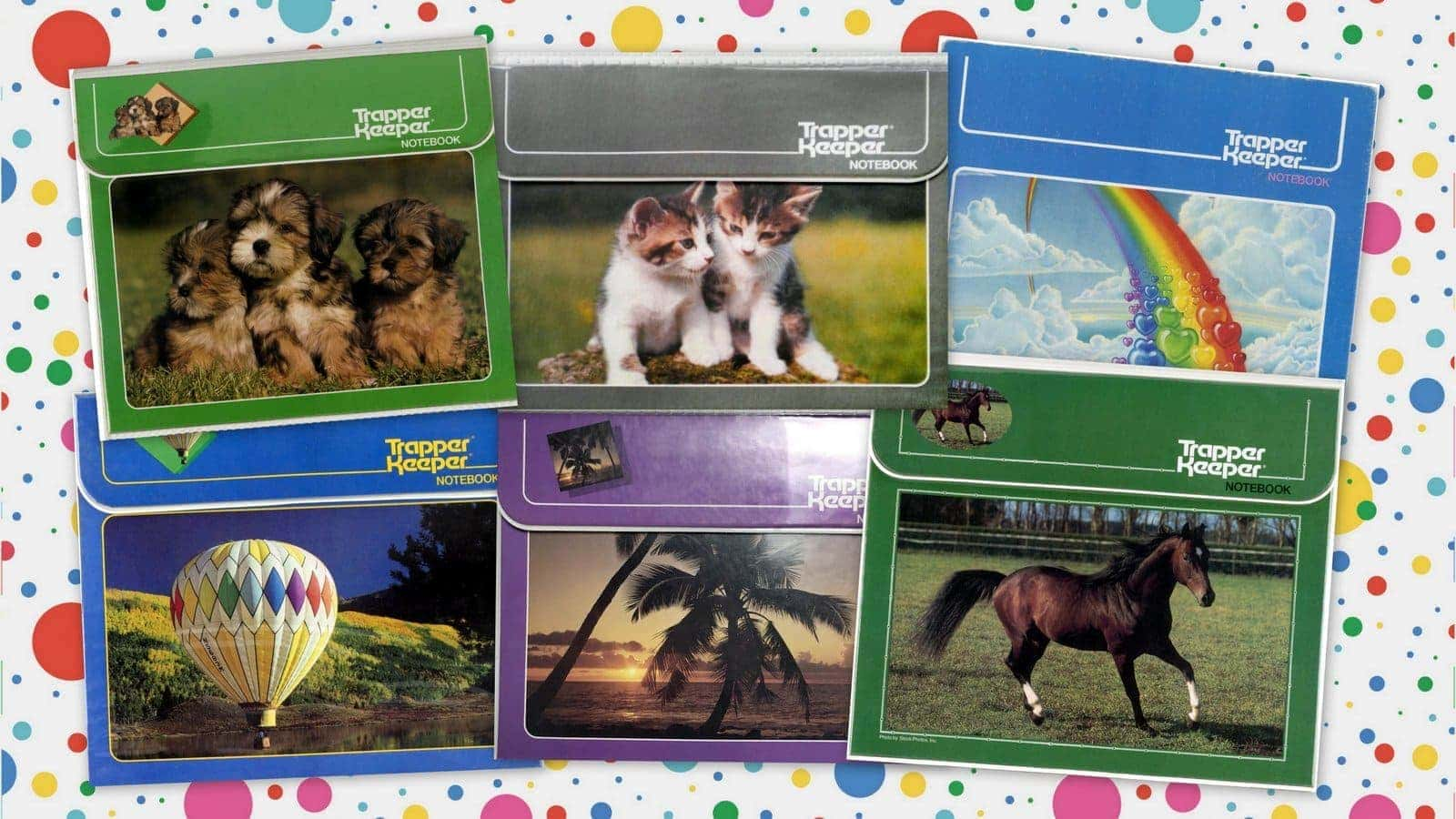 10 Trapper Keeper notebooks from the eighties