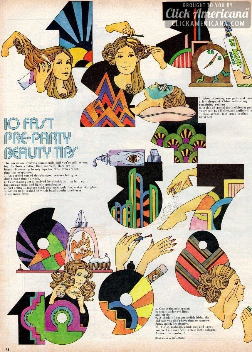 10 fast pre-party beauty tips (1972)