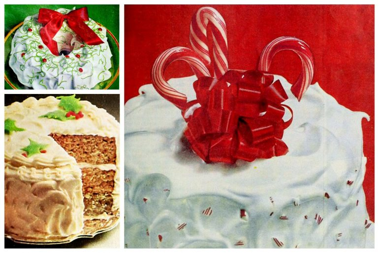 10 pretty vintage Christmas cake recipes