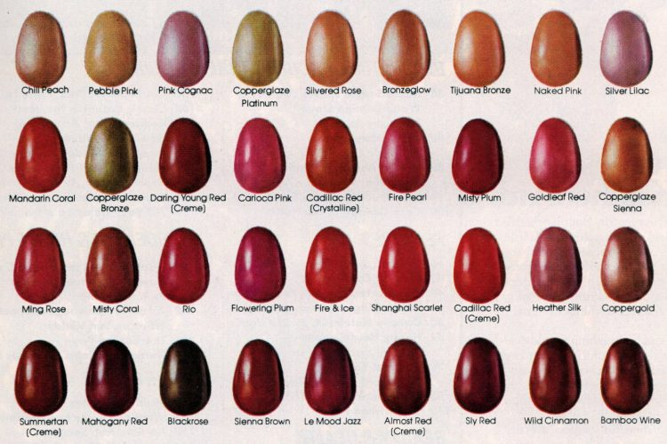 109 colors of retro Revlon nailpolish (1981)