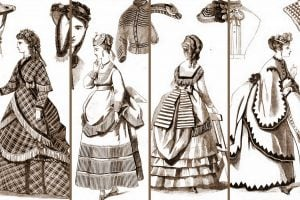 12 antique walking dresses from 1869