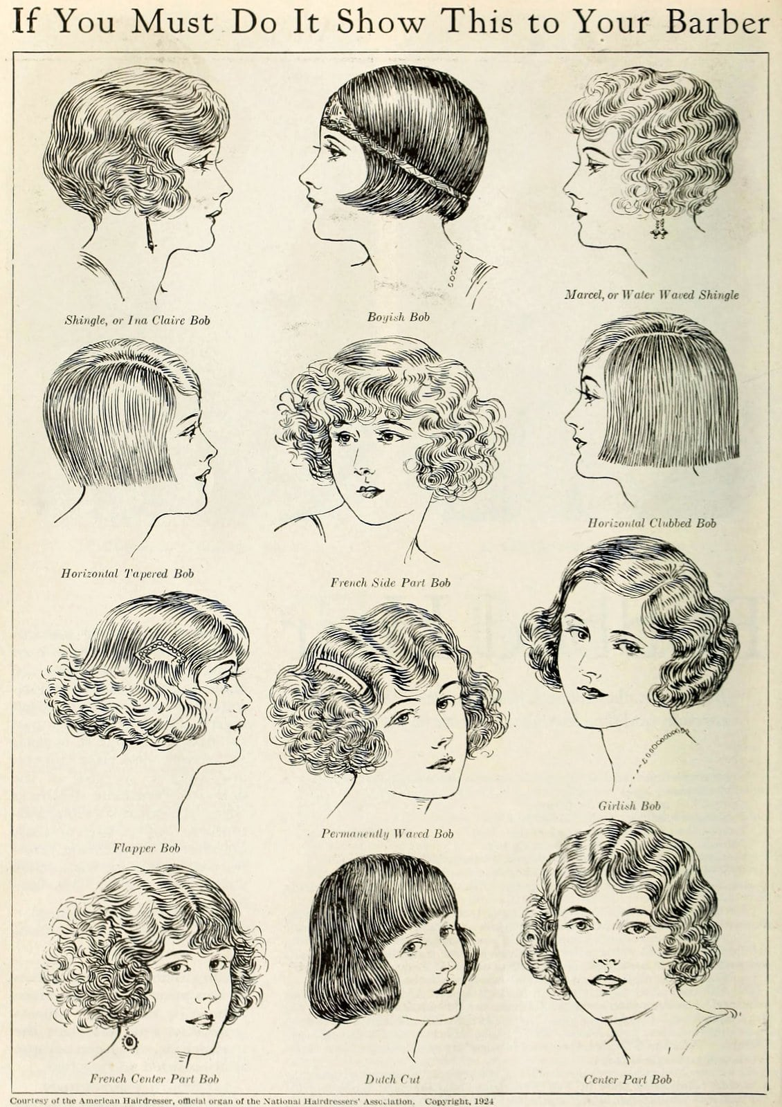 12 vintage bob hairstyles from the 1920s