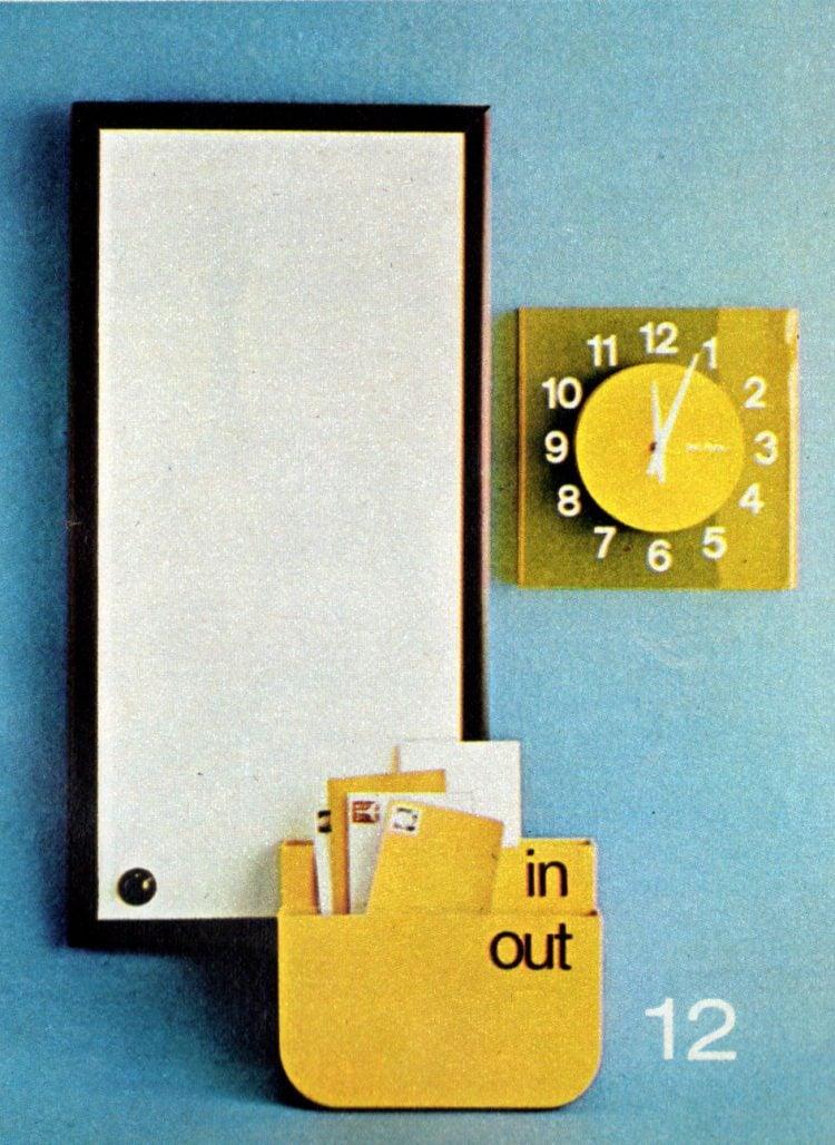 12. White flexible sheet vinyl, then yellow accents