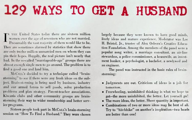 129 ways to get a husband - Truly terrible tips from 1958