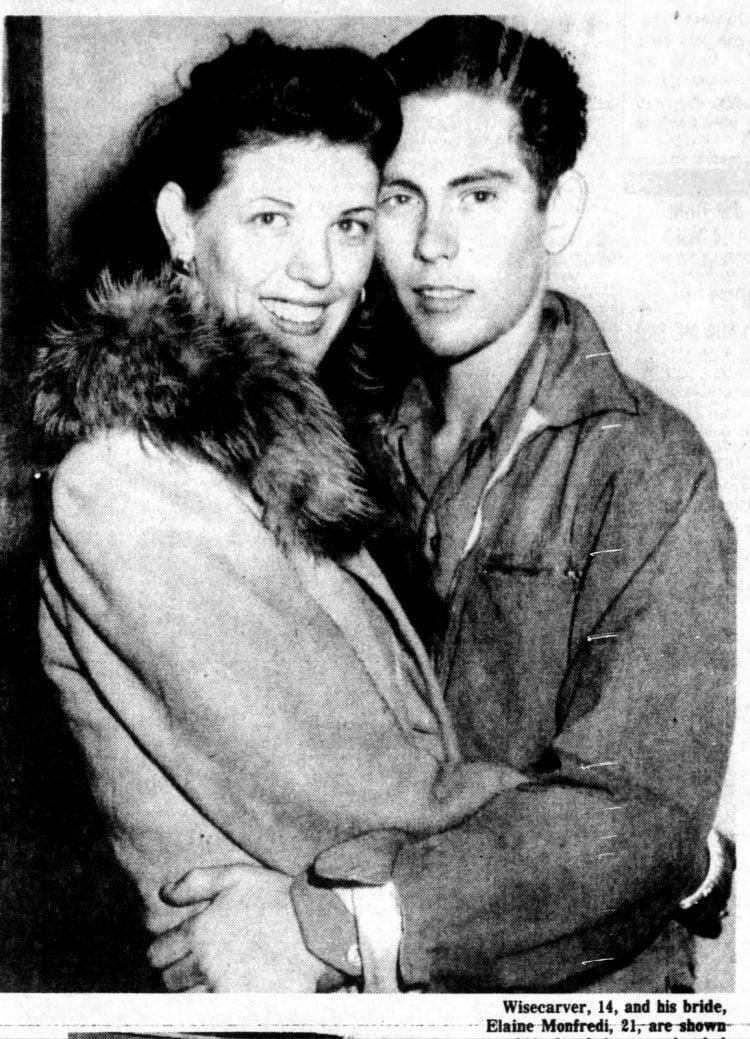 14-year-old Woo Woo Kid gets married Sonny Wisecarver 1944 (1)
