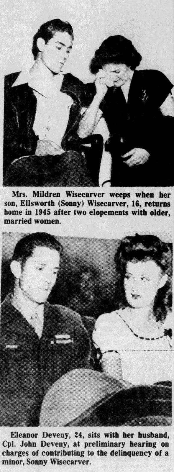 14-year-old Woo Woo Kid gets married Sonny Wisecarver 1944 (2)