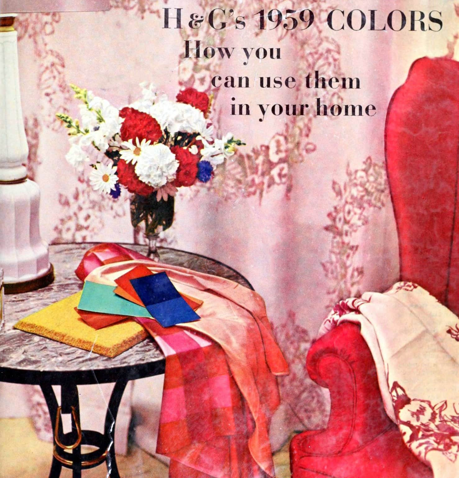 16 vintage House Beautiful home color schemes from 1959