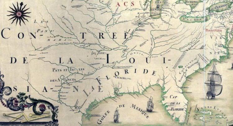 1688 Map of America - Carte de l'Amerique Septentrionnale