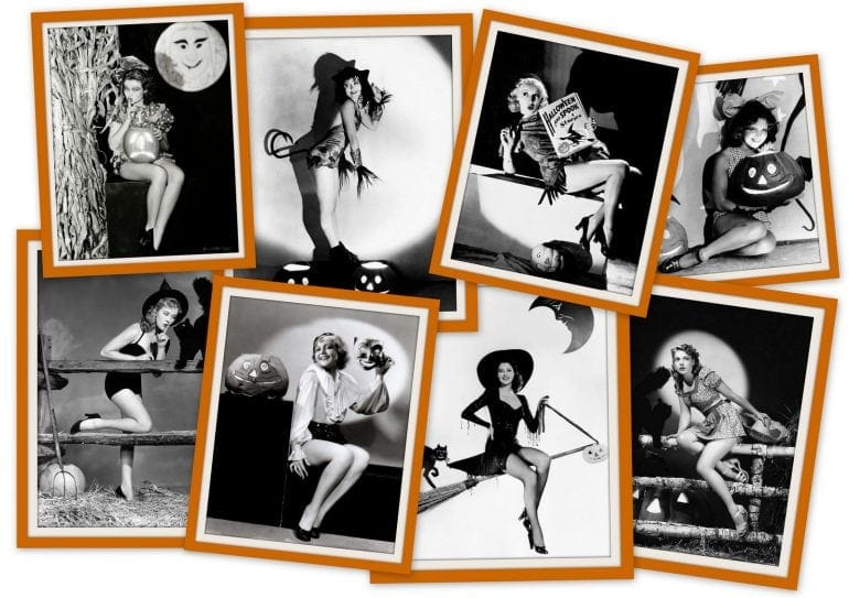 17 Vintage Halloween pin-up girls from the 30s and 40s for a different kind of pumpkin cheesecake