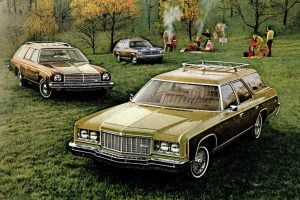 17 different vintage Chevrolet station wagons from the '70s