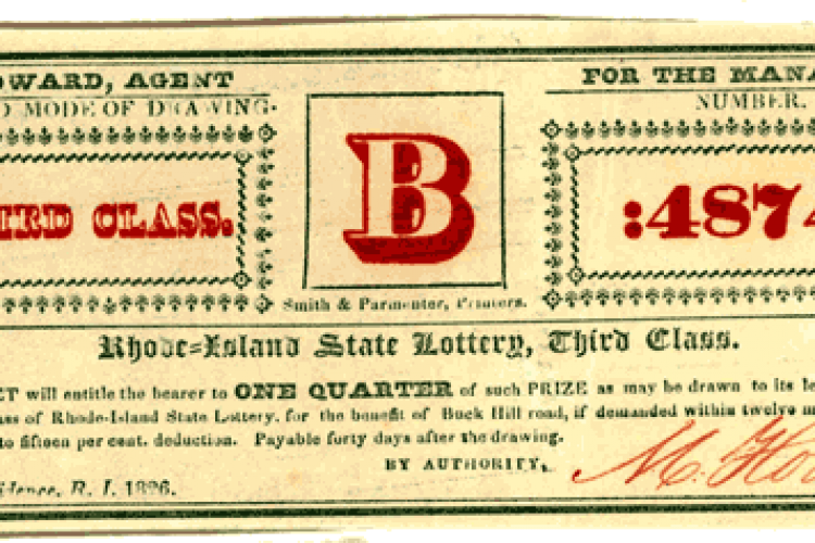 Lottery tickets from the 1820s - Click Americana