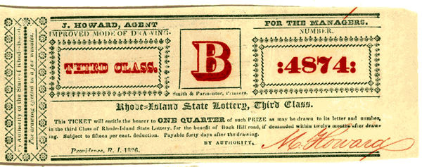 Lottery tickets from the 1820s