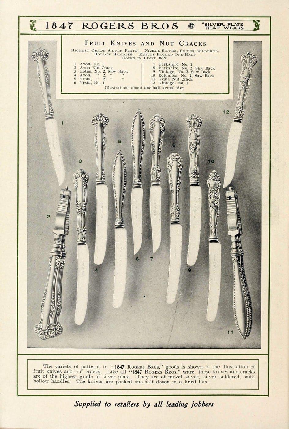 1847 Rogers Bros silver pieces (11)
