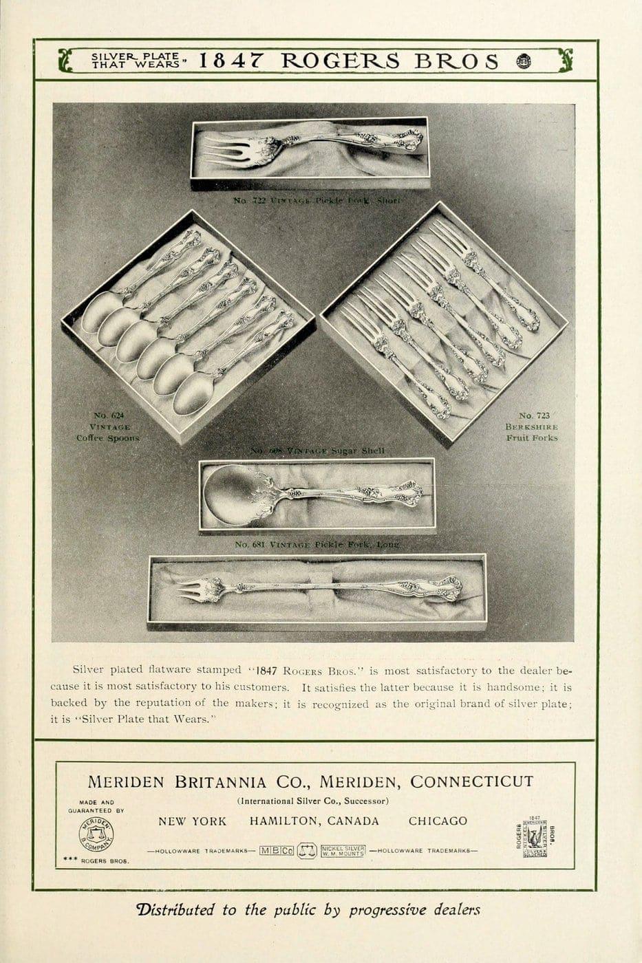 1847 Rogers Bros silver pieces (14)