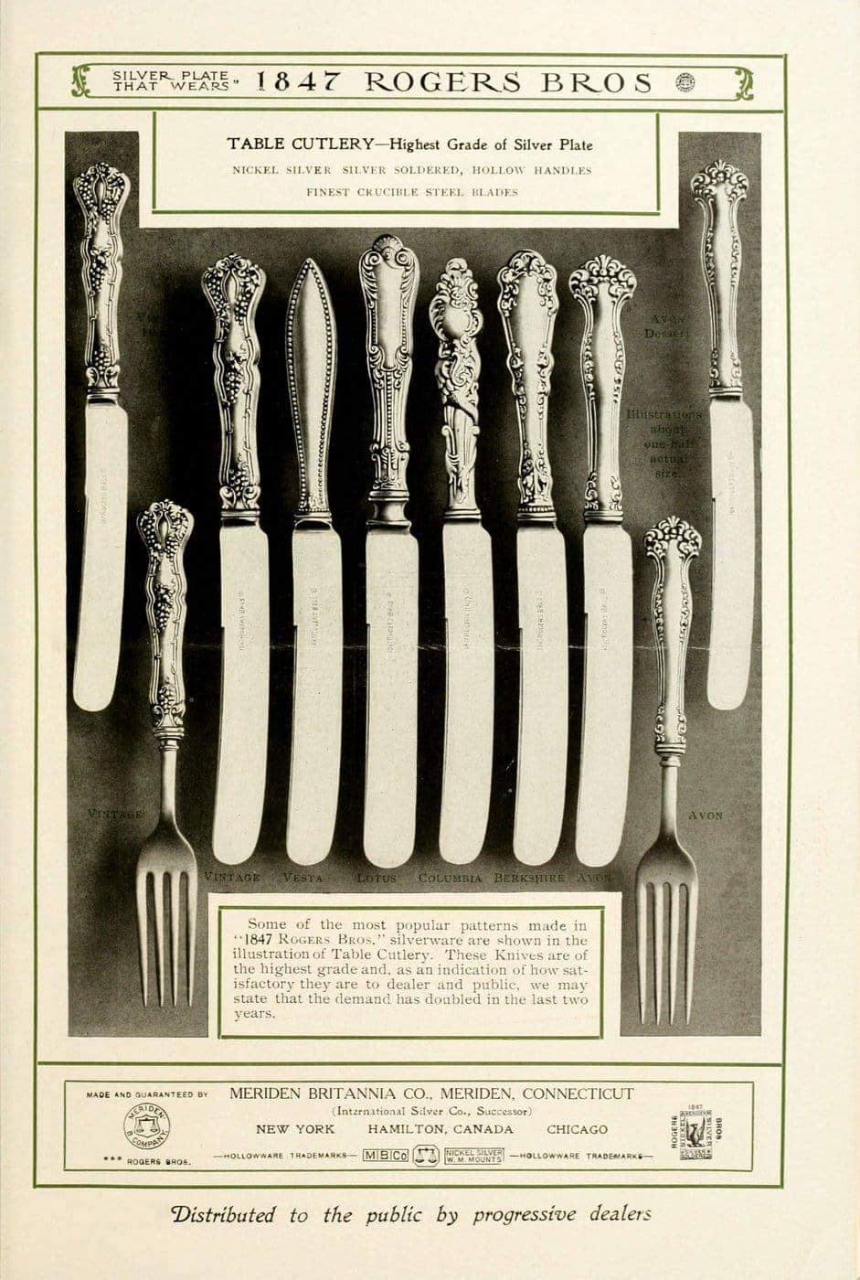 1847 Rogers Bros silver pieces (15)