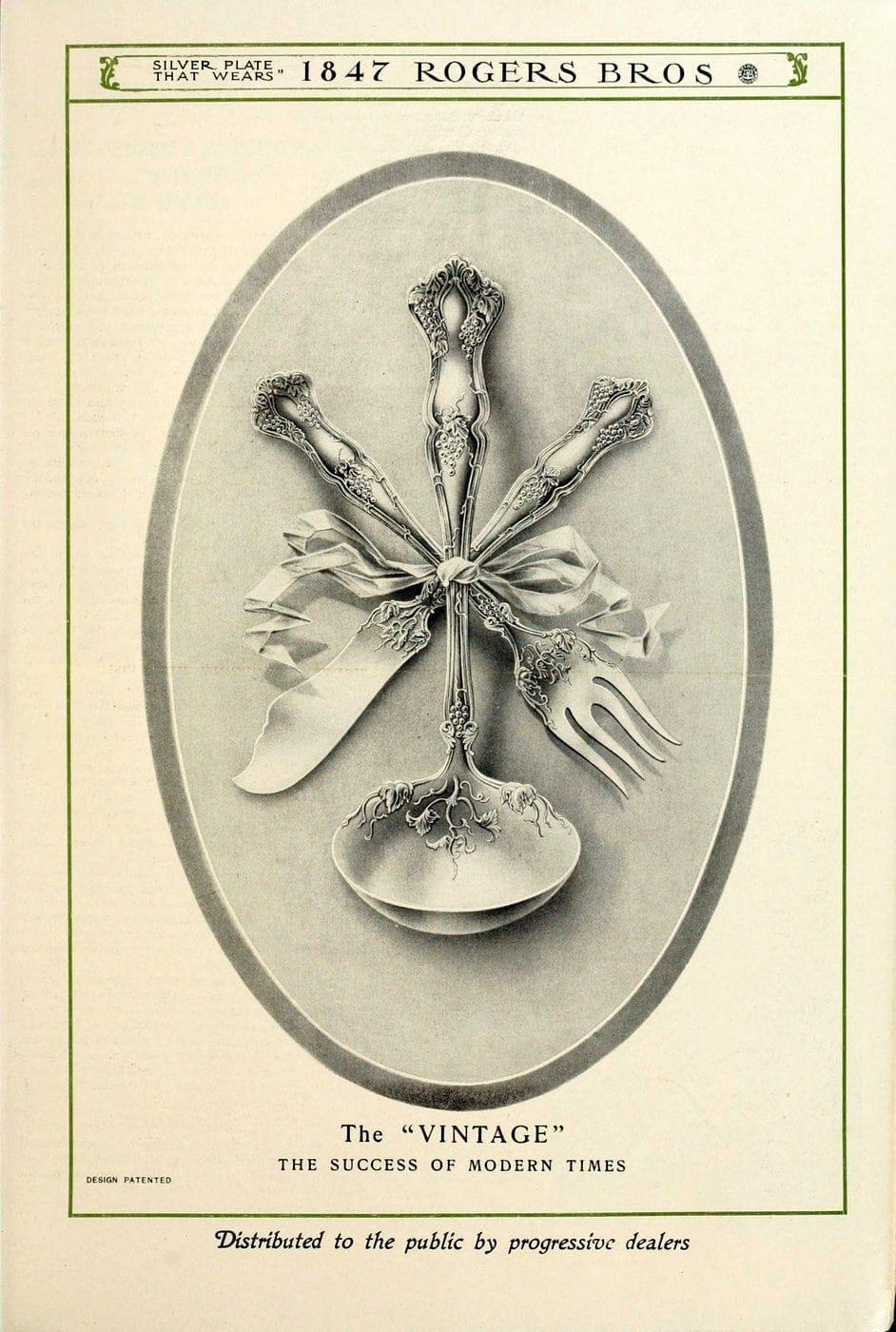 1847 Rogers Bros silver pieces (3)