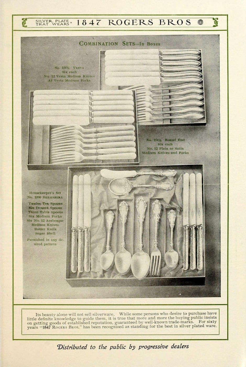 1847 Rogers Bros silver pieces (7)