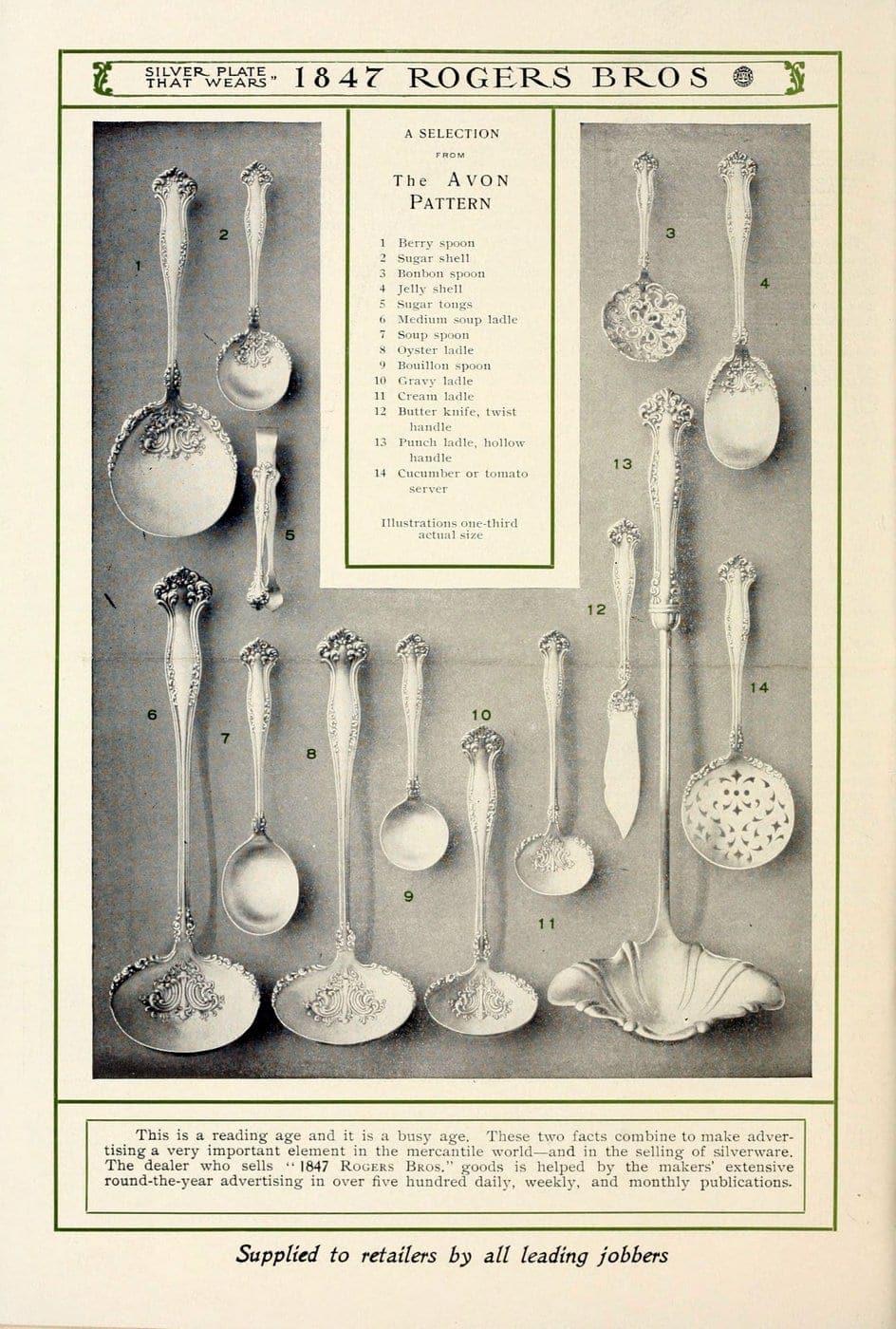1847 Rogers Bros silver pieces (8)
