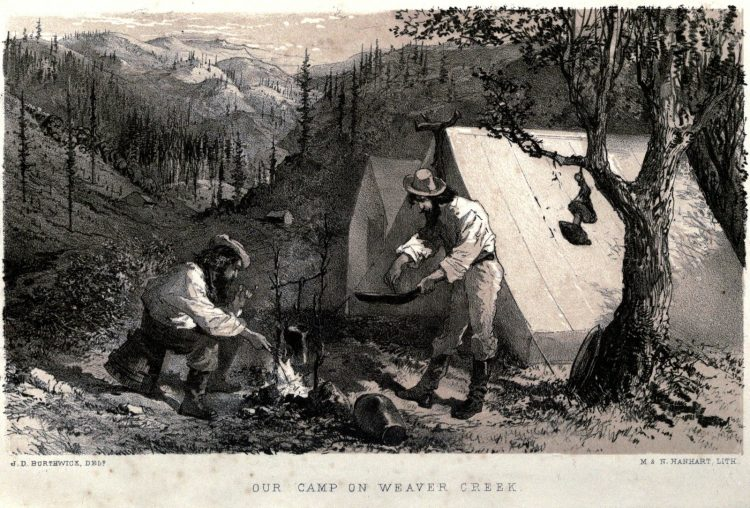 1849 California Gold Rush - Camp on Weaver Creek
