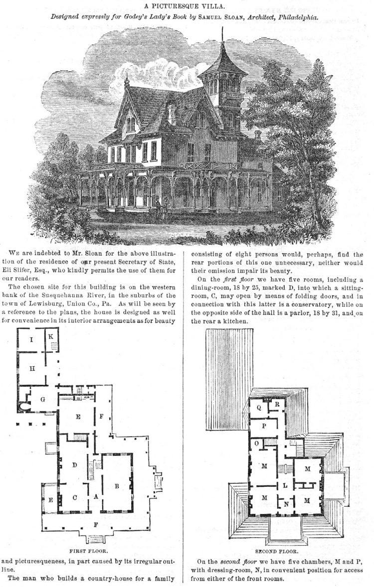 1862 home plan - A picturesque villa