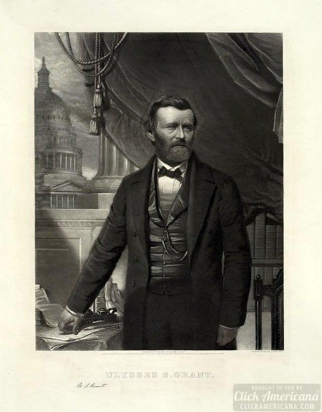 1866 Ulysses S. Grant, half-length portrait