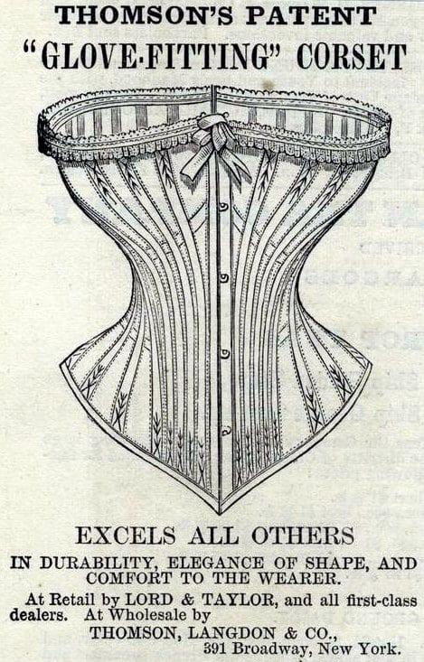 1868 Thomson's Patent Glove-Fitting Corset