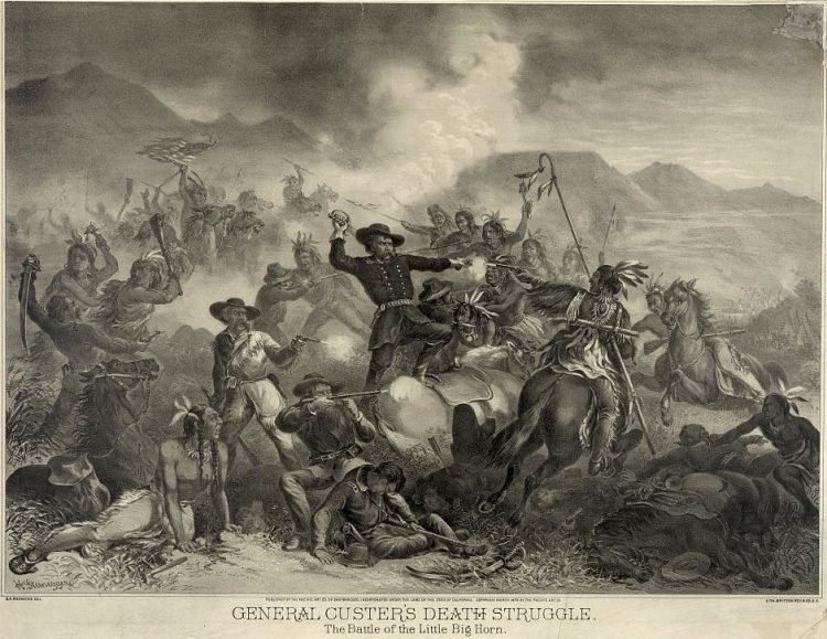 1878 - General Custer's death struggle. The battle of the Little Big Horn
