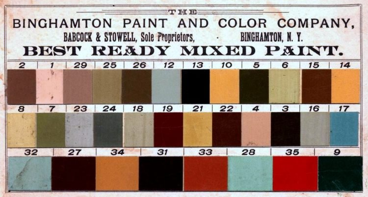 1880 Binghamton best ready mixed paint