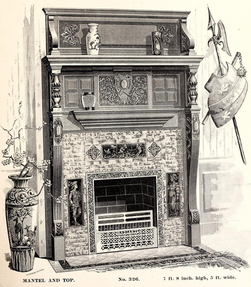 antique fireplace grates
