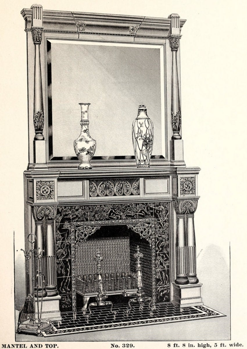 Victorian fireplace from 1880