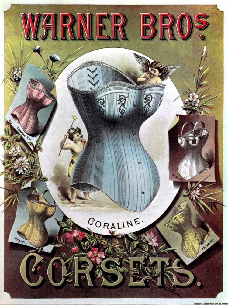 Warner's Victorian corsets - 1880s