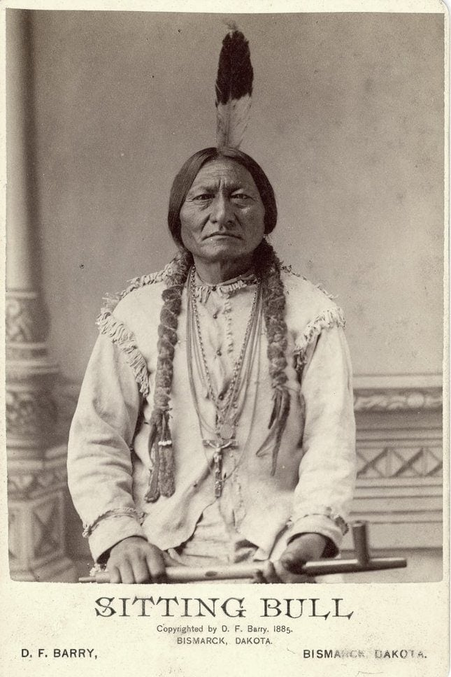 1880s portrait cabinet card of Sitting Bull