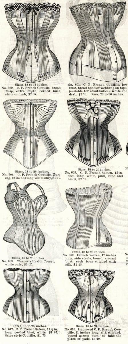 1886 corsets B. Altman & Co.