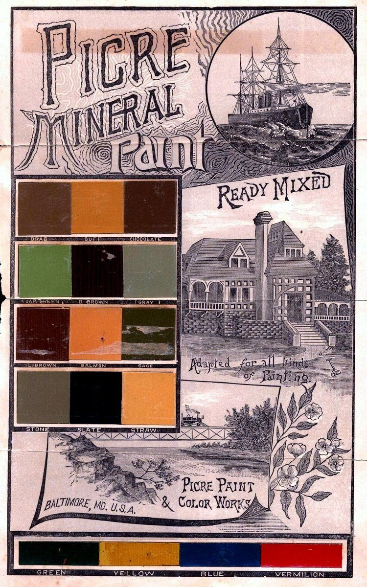 1890 Picre mineral paint ready for use