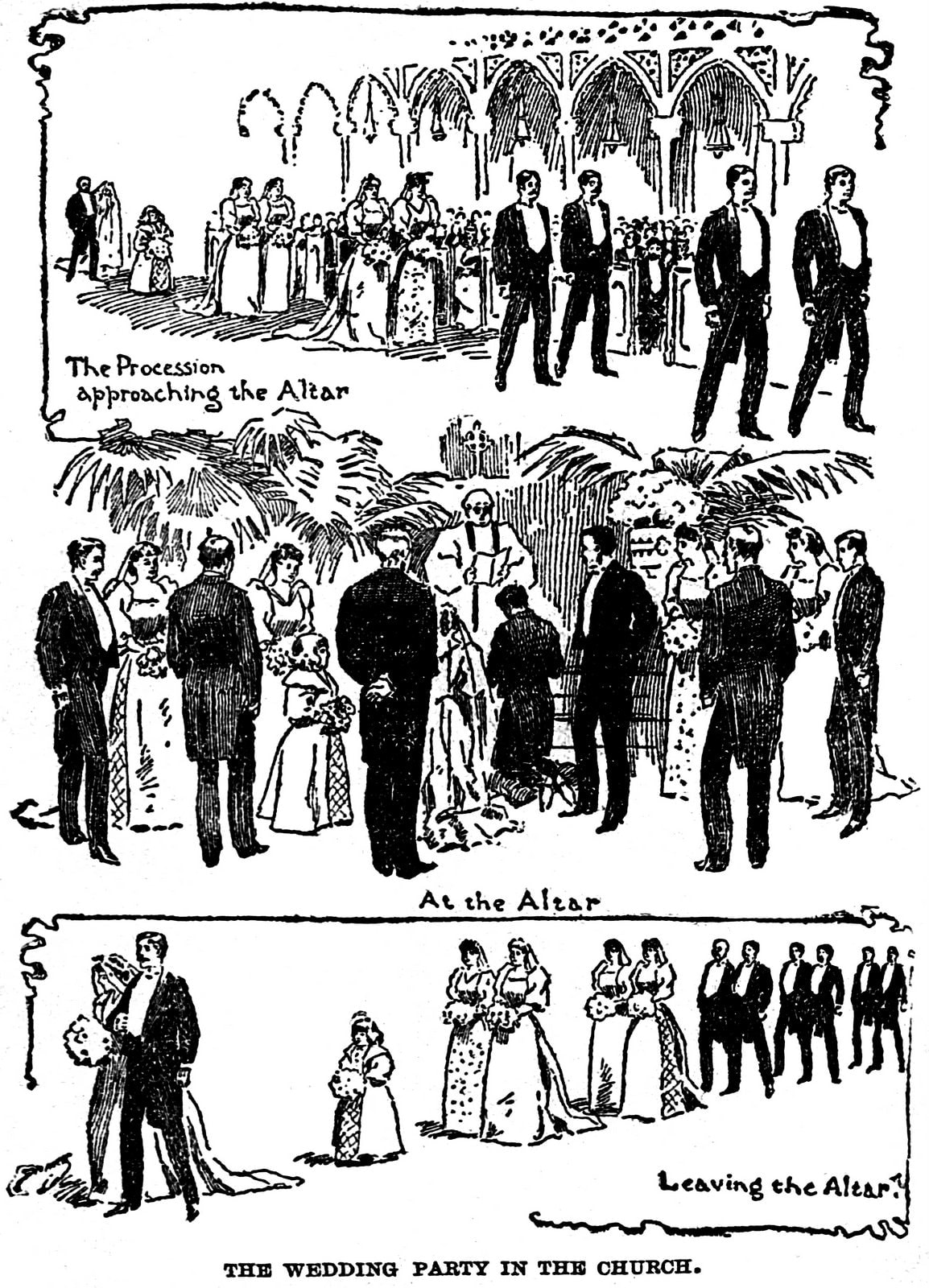 1893 Wedding procession etiquette tips