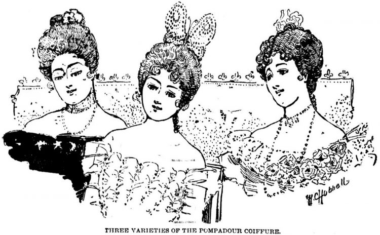 1899 3 pompadour hairstyles