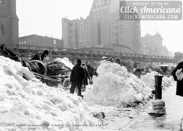 See how they had to remove snow 100 years ago