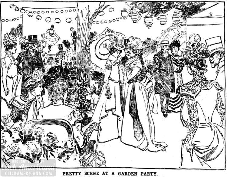 1899 Victorian garden party