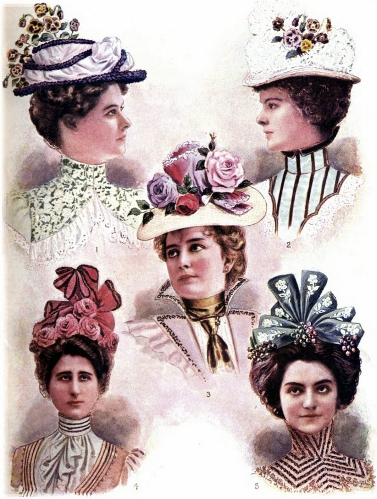 1899 fashion women dresses hats