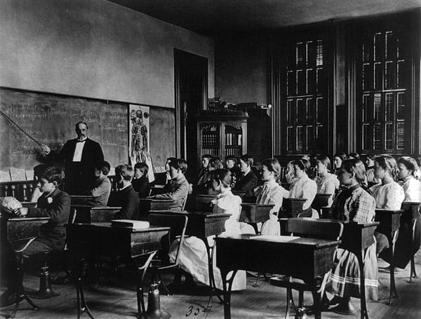 Peek Inside School Classrooms 1899 Click Americana