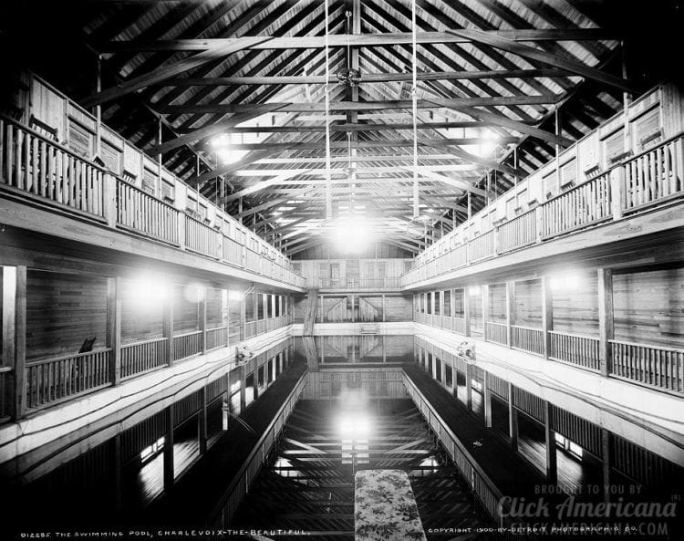 Large indoor swimming pool in Charlevoix, Michigan (1900)